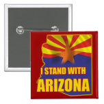 I stand with Arizona 2 Inch Square Button