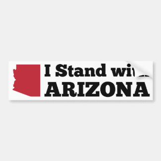 I Stand With Arizona Bumper Sticker