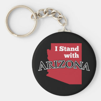 I Stand With Arizona Keychain