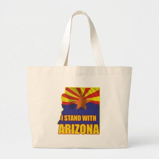 I stand with Arizona Large Tote Bag