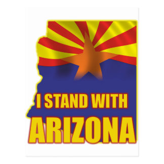 I stand with Arizona Postcard