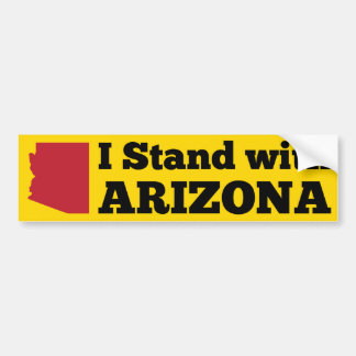 I Stand With Arizona Yellow Bumper Sticker