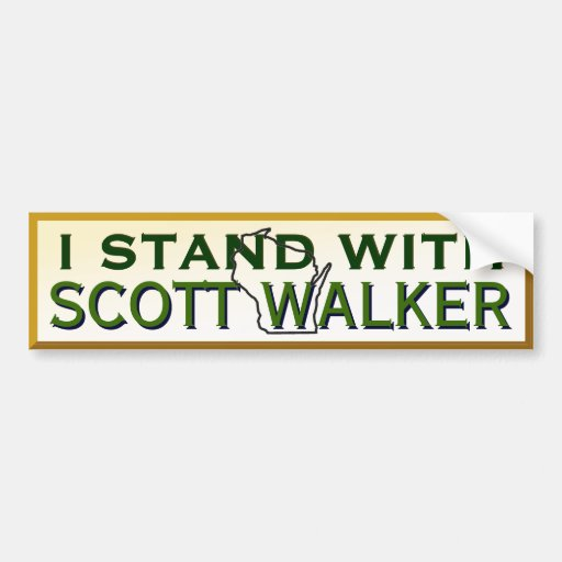 I Stand With Governor Scott Walker Bumper Stickers