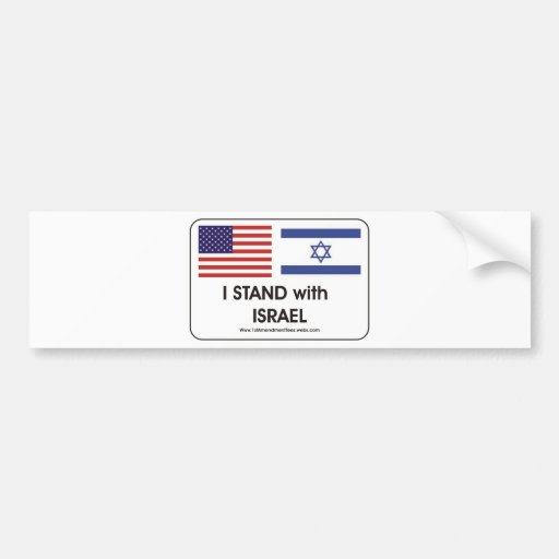 I stand with Irael Bumper Sticker