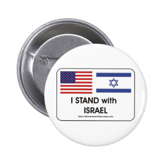 I stand with Irael Pinback Buttons