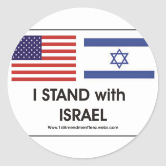 I stand with Irael Classic Round Sticker