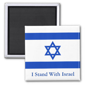 I Stand With Israel 2 Inch Square Magnet