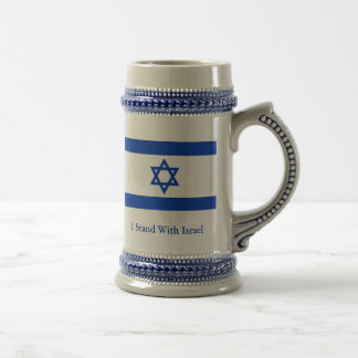 I Stand With Israel Beer Stein