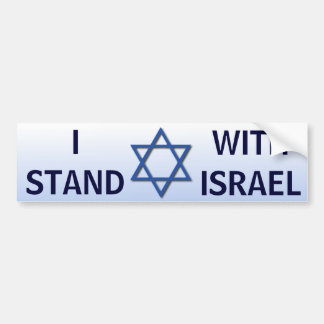 I Stand With Israel Bumper Sticker