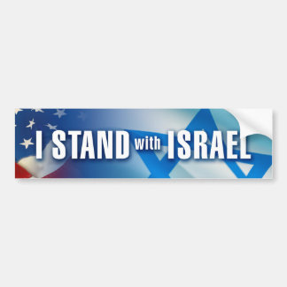 I Stand with Israel Bumper Stickers