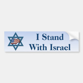 I Stand With Israel Car Bumper Sticker