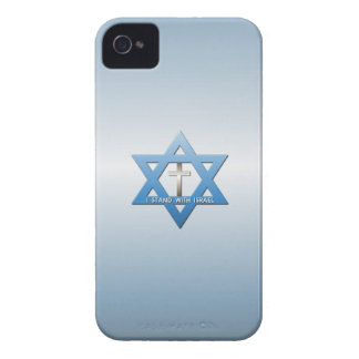 I Stand With Israel Christian Cross iPhone 4 Case-Mate Case