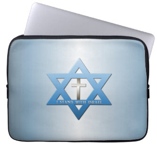 I Stand With Israel Christian Cross Laptop Sleeves