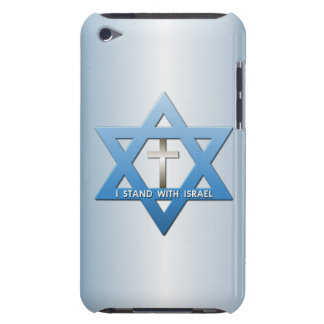 I Stand With Israel Christian Cross Star of David iPod Touch Cover