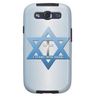 I Stand With Israel Christian Cross Star of David Samsung Galaxy S3 Case