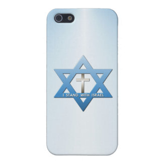 I Stand With Israel Christian Cross  Star of David Case For iPhone SE/5/5s