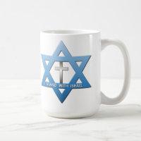 I Stand With Israel Christian Cross Star of David Coffee Mug
