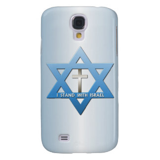 I Stand With Israel Christian Cross Star of David Galaxy S4 Cover