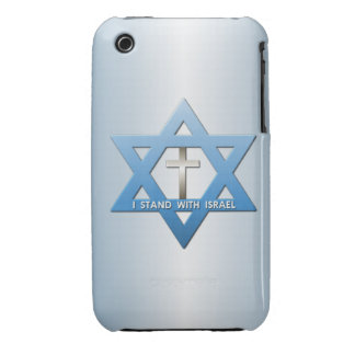 I Stand With Israel Christian Cross Star of David iPhone 3 Case
