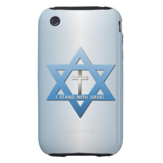 I Stand With Israel Christian Cross Star of David iPhone 3 Tough Cover