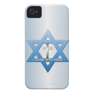 I Stand With Israel Christian Cross Star of David iPhone 4 Cover