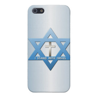 I Stand With Israel Christian Cross Star of David iPhone SE/5/5s Case
