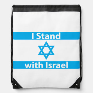I Stand with Israel Flag Backpacks