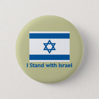 I Stand With Israel Gifts and Tees Pinback Button