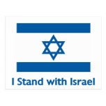 I Stand With Israel Gifts and Tees Post Card