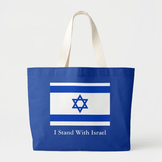 I Stand With Israel Large Tote Bag
