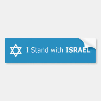I Stand with ISRAEL star of David Bumper Sticker