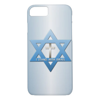 I Stand With Israel Star of David Christian Cross iPhone 7 Case