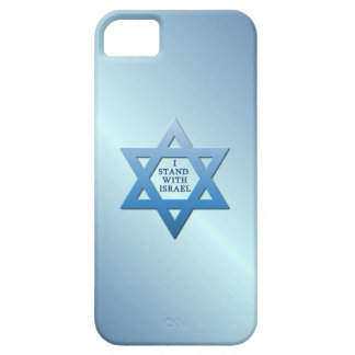 I Stand With Israel Star of David on Blue iPhone 5 Case