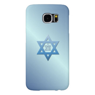 I Stand With Israel with Blue Jewish Star of David Samsung Galaxy S6 Cases