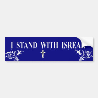 I Stand With Isreal 2 Car Bumper Sticker