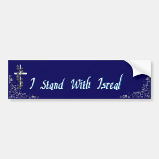 I Stand With Isreal 3 Bumper Sticker