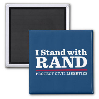 I Stand With Rand 2 Inch Square Magnet