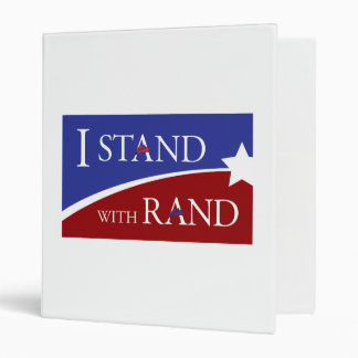 I Stand With Rand 3 Ring Binder