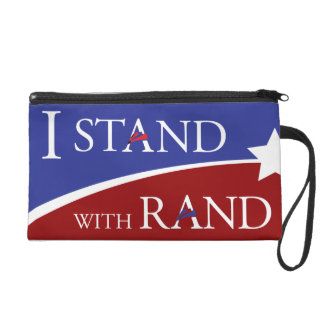 I Stand With Rand Wristlet Clutch