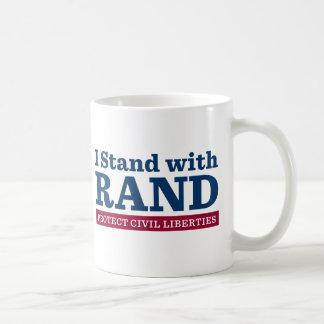 I Stand With Rand Classic White Coffee Mug