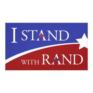 I Stand With Rand Gallery Wrap Canvas