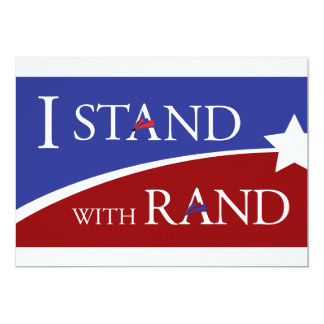 "I Stand With Rand 5"" X 7"" Invitation Card"