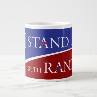 I Stand With Rand Large Coffee Mug