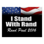 I Stand with Rand Paul Posters