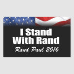 I Stand with Rand Paul Rectangular Sticker
