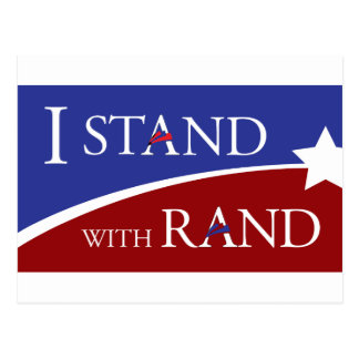 I Stand With Rand Postcard