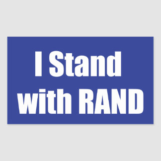 I stand with Rand Rectangular Sticker
