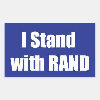 I stand with Rand Rectangular Sticker