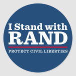 I Stand With Rand Round Stickers