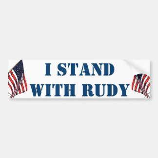 I STAND WITH RUDY BUMPER STICKER